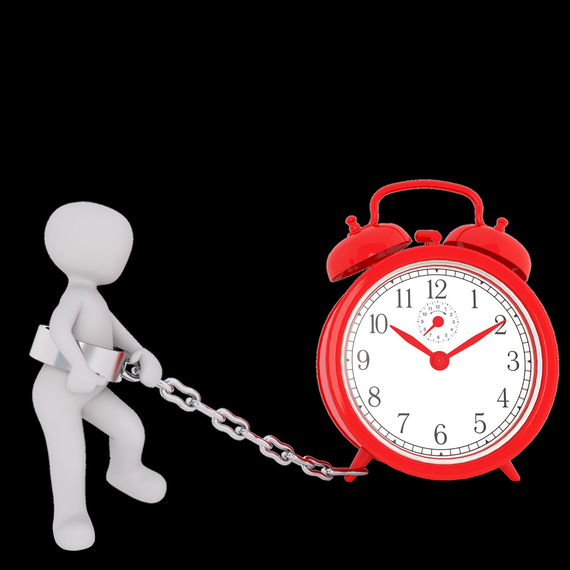 Die Tagesroutine wird symbolisiert durch eine sichtbare Uhr